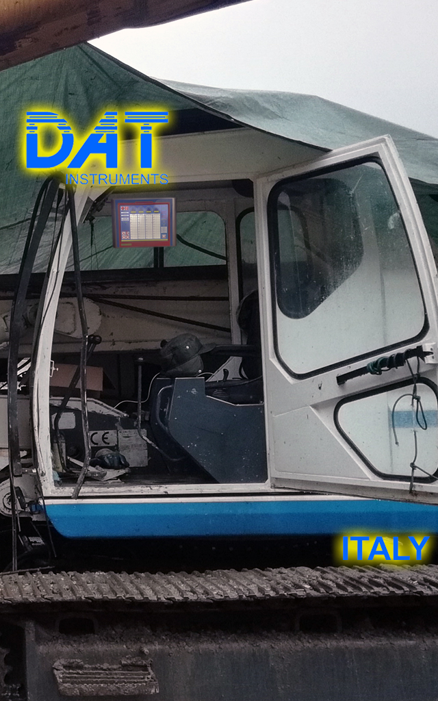 DAT instruments, DAT TinyLog, building foundations, CFA recorder, continuous flight auger recorder, data logger, data recorder, Italy 2019