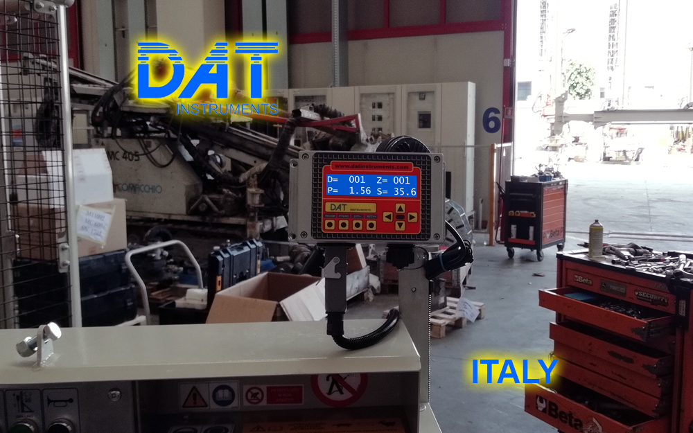 DAT instruments JET SDP IB datalogger installed at the drilling rigs manufacturer