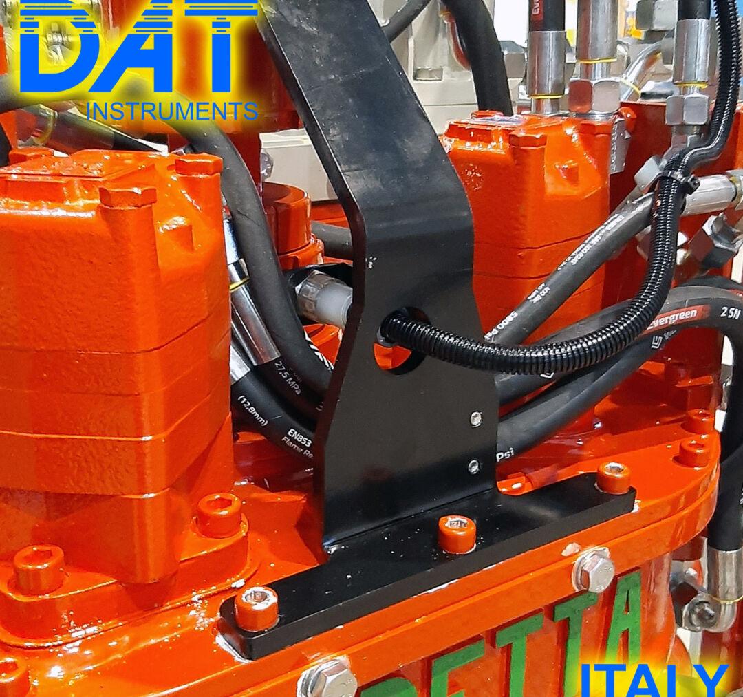 DAT instruments, datalogger installation at Beretta production place, JET SDP IB, JET ROT, rotation sensor