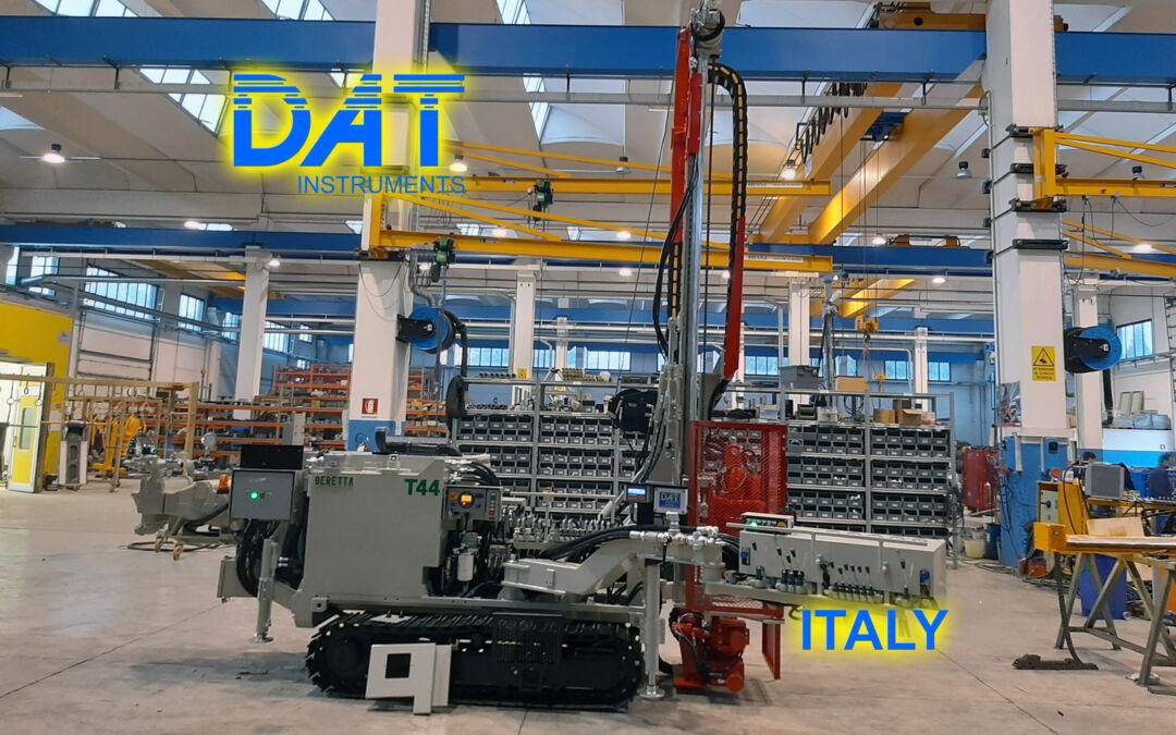 DAT instruments, datalogger installation at Beretta factory, JET SDP IB