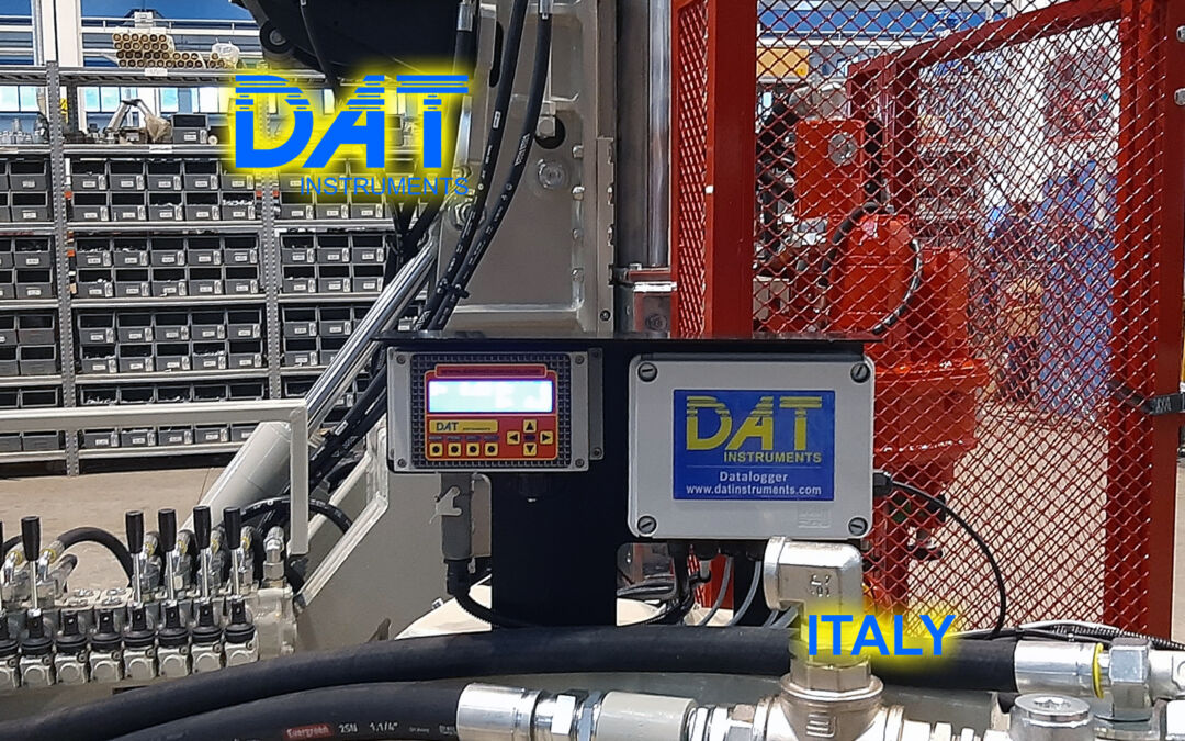 DAT instruments, datalogger installation at Beretta factory, JET SDP IB, datalogger for jet grouting