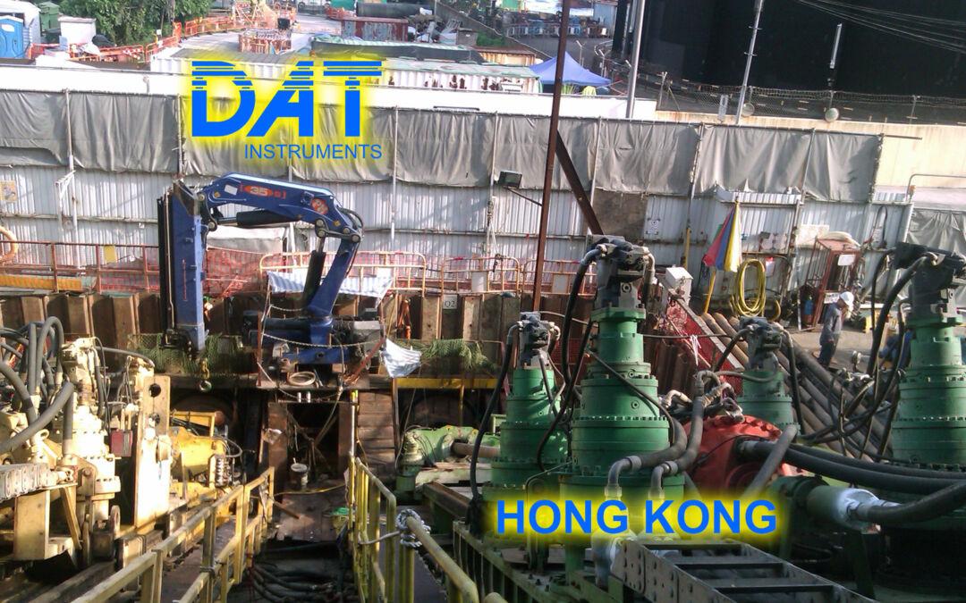 DAT instruments, horizontal drilling with DAT TinyLog, JET 4000 AME J, Hong Kong