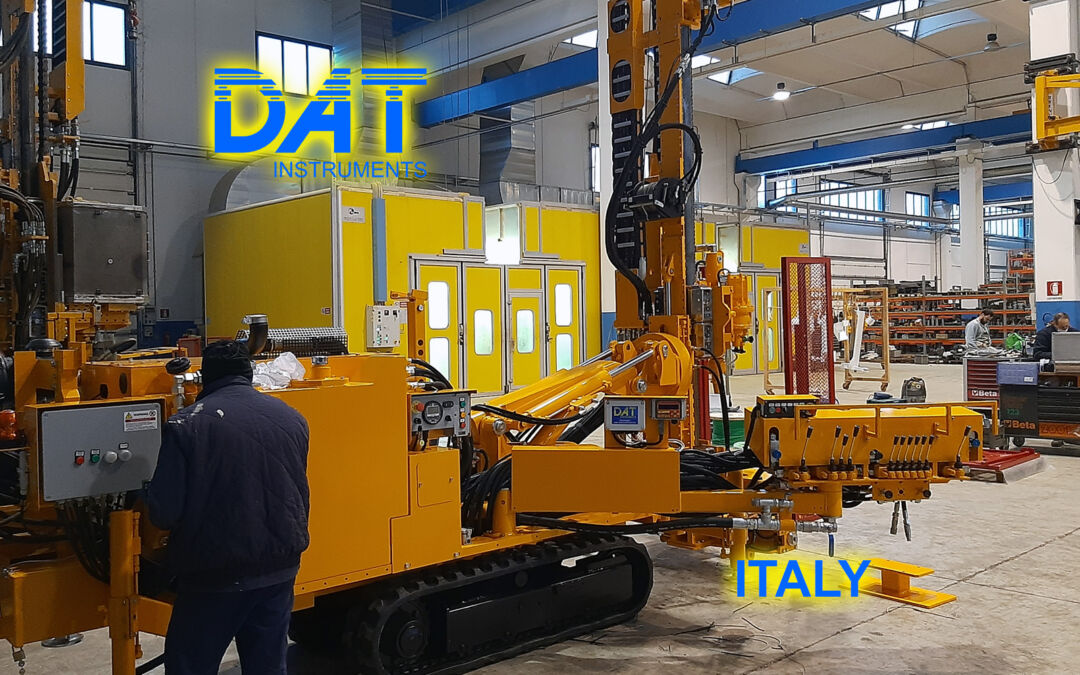 DAT instruments, datalogger JET SDP IB, drilling, datalogger installed on Beretta, data logger for mineral investigation