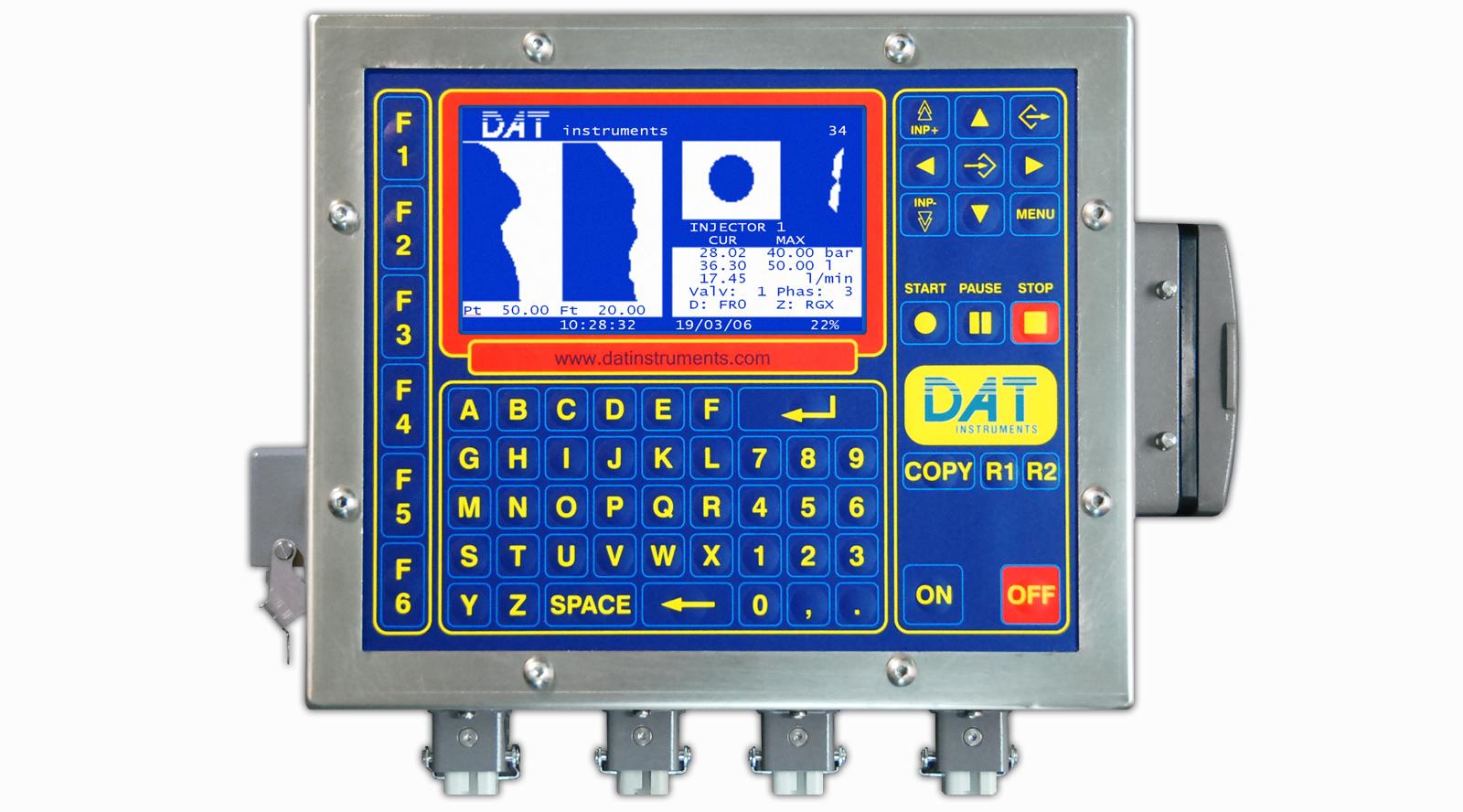 DAT instruments, JET 4000 AME - I, datalogger para Inyecciones de cemento, TAM Grouting, Pruebas Lugeon
