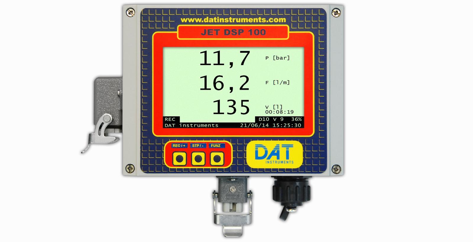 DAT instruments, JET DSP 100 - I - IR - IRT, datalogger para Inyecciones de cemento, Pruebas Lugeon