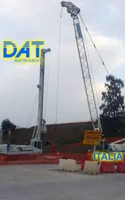 DAT instruments, Italia, datalogger, JET SDP - J, perforaciones , obra, carretera de los escritores