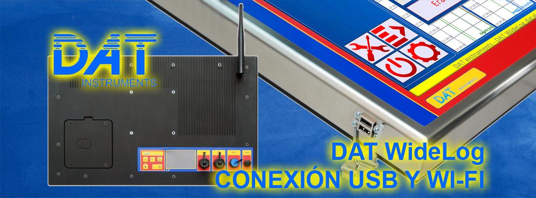 DAT instruments, datalogger para geotecnia y fundaciones especiales, DAT WideLog, conexión USB y Wi-Fi, registrador de datos, ordenador