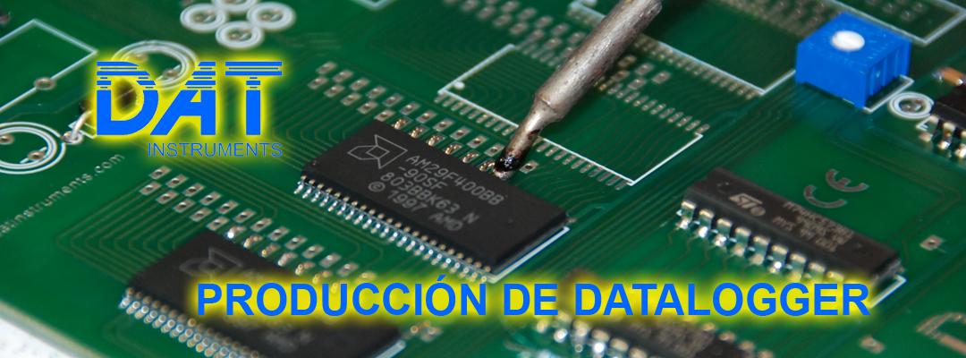 DAT instruments, datalogger, producción, montaje de placa electrónica