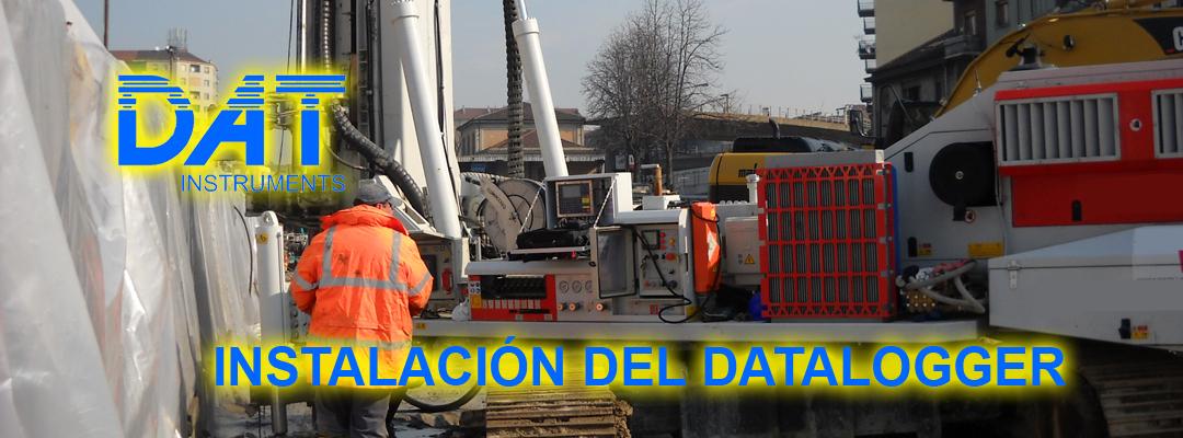 DAT instruments, registradores de datos, instalación, perforadoras, grúas, hidrofresas