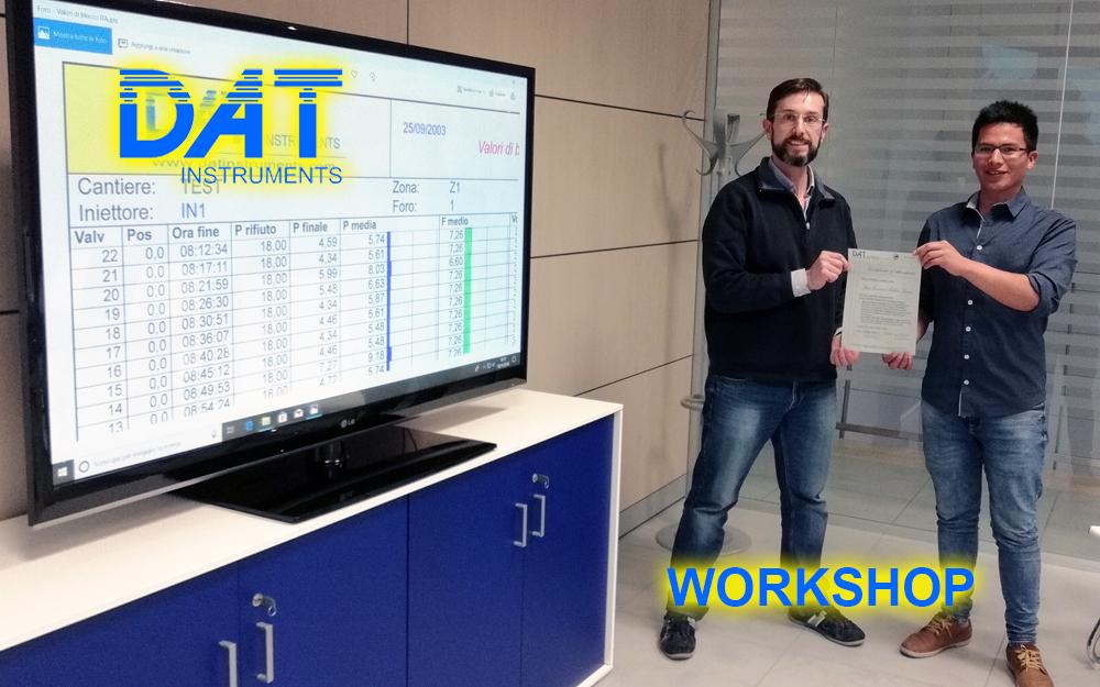 DAT instruments, la importancia del training, datalogger, Amedeo Valoroso