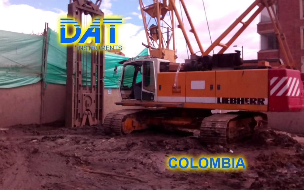 DAT instruments, Colombia, 2014, JET DSP 100 - D, excavación de diafragmas, obra, obras para el subsuelo