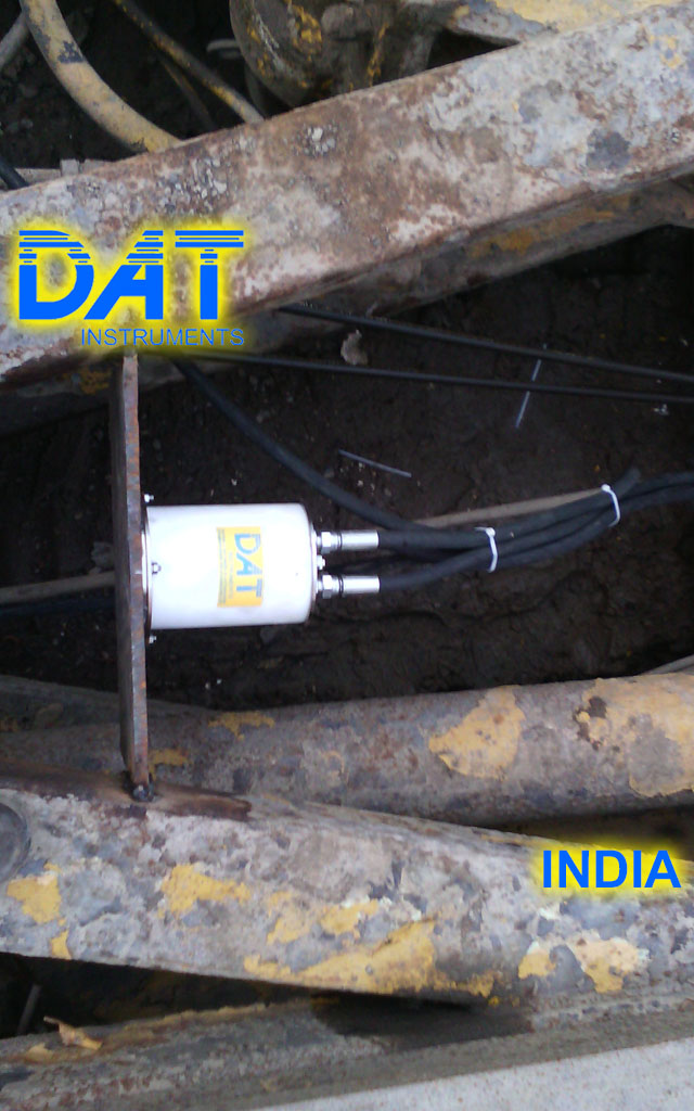 DAT instruments, India, Excavación de diafragmas, inclinómetro, JET DSP 100 D
