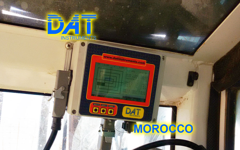 DAT instruments, Marruecos, Puerto de Nador, JET DSP 100 - D, Datalogger para excavación de diafragmas, pantalla, dWalls