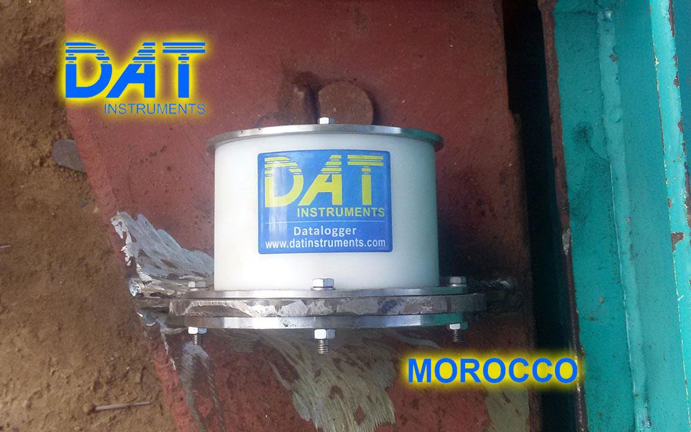 DAT instruments, Marruecos , Puerto de Nador, JET WXYZ, sensor de inclinación para excavación de diafragmas, dWalls