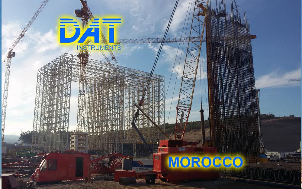 DAT instruments, Marruecos, Puerto de Nador, obra con equipo, dWalls
