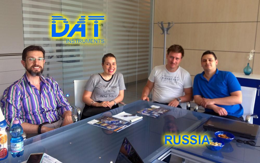 DAT instruments, Rusia, JET DSP 100 D, excavación de diafragmas, encuentro con el Cliente en la empresa, datalogger para la metropolitana de Moscù