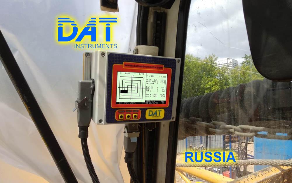 DAT instruments, Rusia, JET DSP 100 D, excavación de diafragmas, datalogger para la metropolitana de Moscù.
