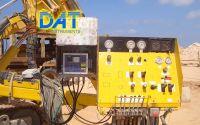 DAT instruments, datalogger, Arabia, Atlas Copco. datalogger DAT montados en todas las perforadoras