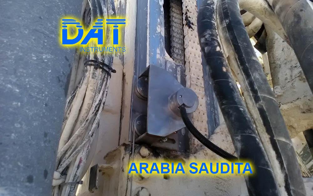 DAT instruments, Arabia Saudita, registro de parámetros, JET 4000 AME J, JET SDP IB, JET DEPTH, sensore de profundidad
