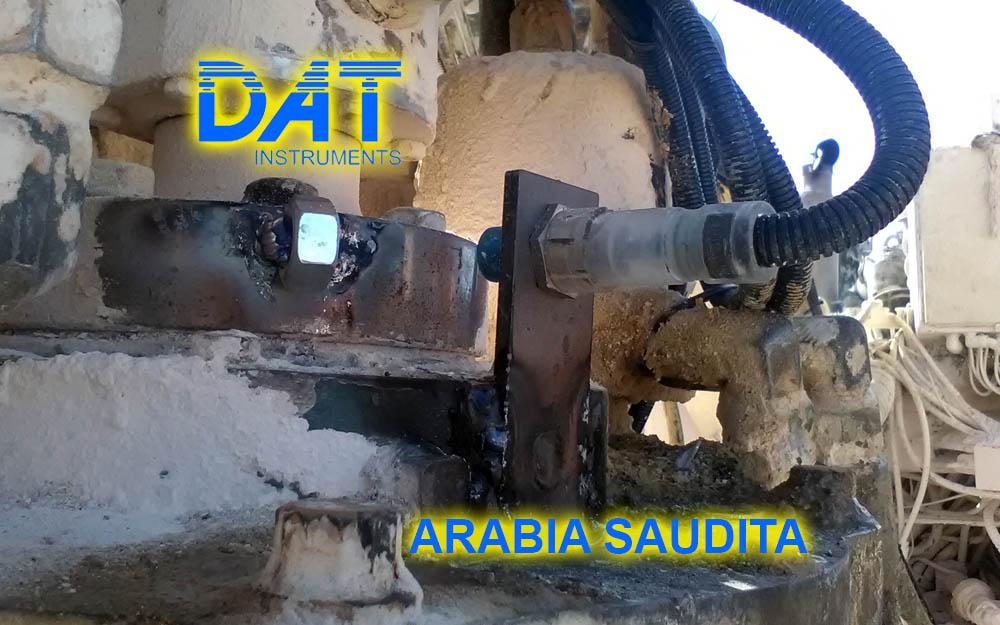 DAT instruments, Arabia Saudita, registro de paràmetros, JET 4000 AME J, JET SDP IB, JET ROT, cuenta golpe