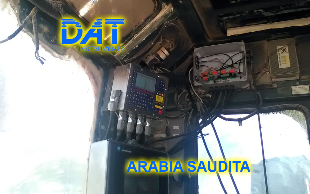 DAT instruments, Arabia Saudita, registro de parámetros para sondaje geotecnico, JET 4000 AME J, JET SDP IB, datalogger