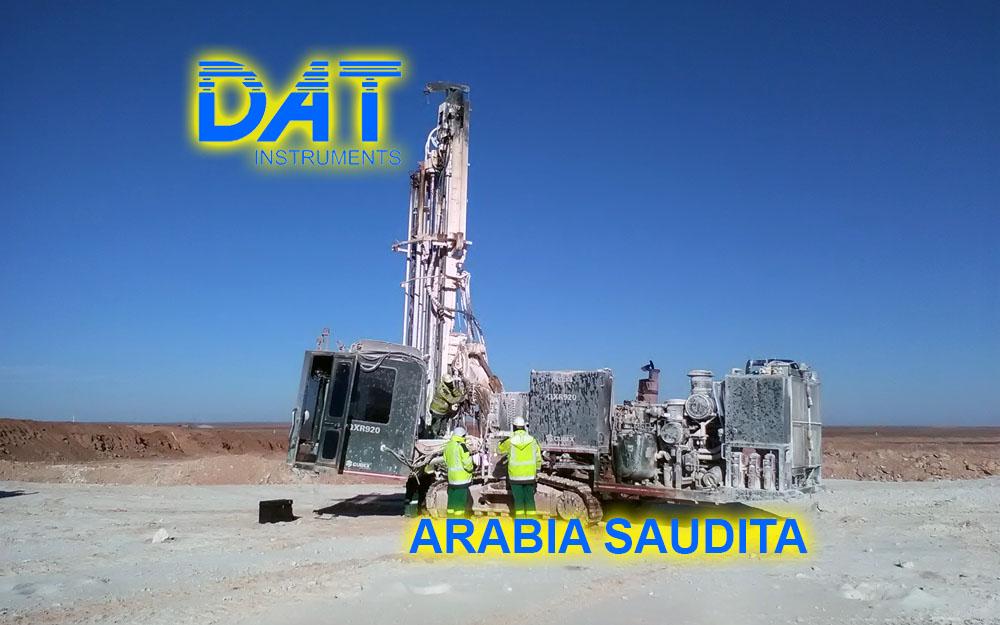 DAT instruments en Arabia Saudita, registro de parametros para sondaje geotécnico JET 4000 AME J y JET SDP IB obra