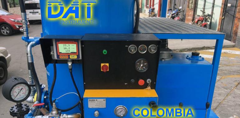 DAT instruments, Colombia, datalogger, grouting, JET DSP 100 IRT, en el equipo
