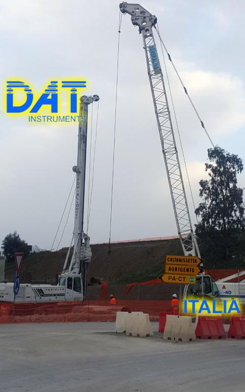 DAT instruments, Italia, datalogger, JET SDP - J, perforacions, obra, sistema de visualización de datos