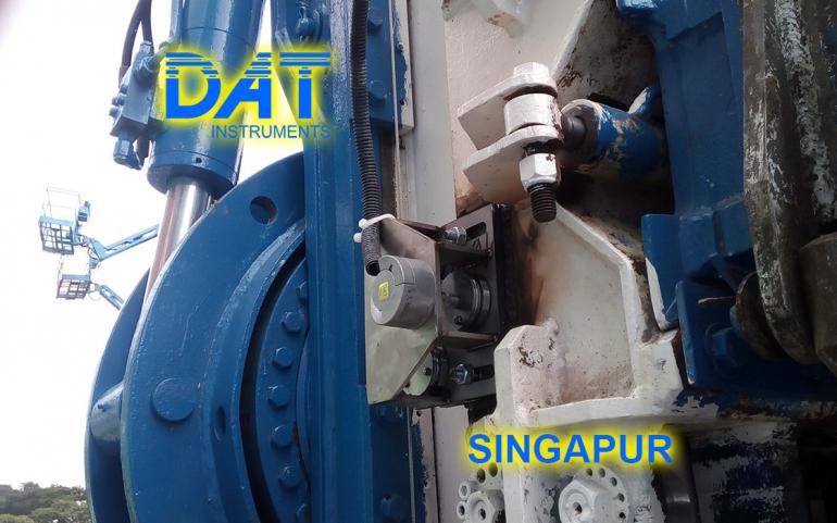 DAT instruments, Singapur 2018, datalogger, jet grouting simple fluido, JET DEPTH, sensor de profundidad en l'equipo, asistencia en la obra