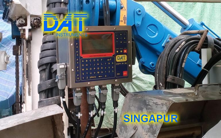 DAT instruments, Singapur 2018, datalogger, jet grouting simple fluido, JET 4000 AME J-MDJ, asistencia en la obra