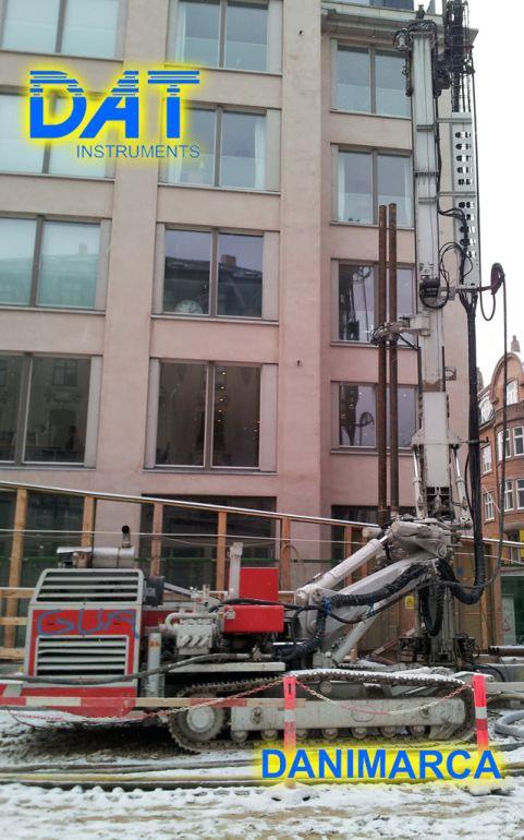 DAT instruments, drilling, jetgrouting, Cityringen, Copenhagen, trivella