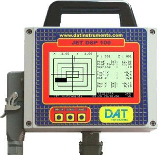 DAT instruments, datalogger per: Jet grouting - Iniezioni di cemento - Pali valvolati - Trivellazioni - DAC test - CFA - Deep mixing - Soil mixing - Vibroflottazione - Diaframmi - Prove Lugeon, data logger per scavo di diaframmi