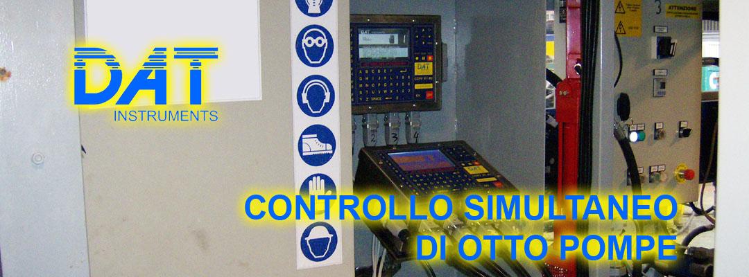 DAT instruments, datalogger, controllo, otto pompe simultaneamente