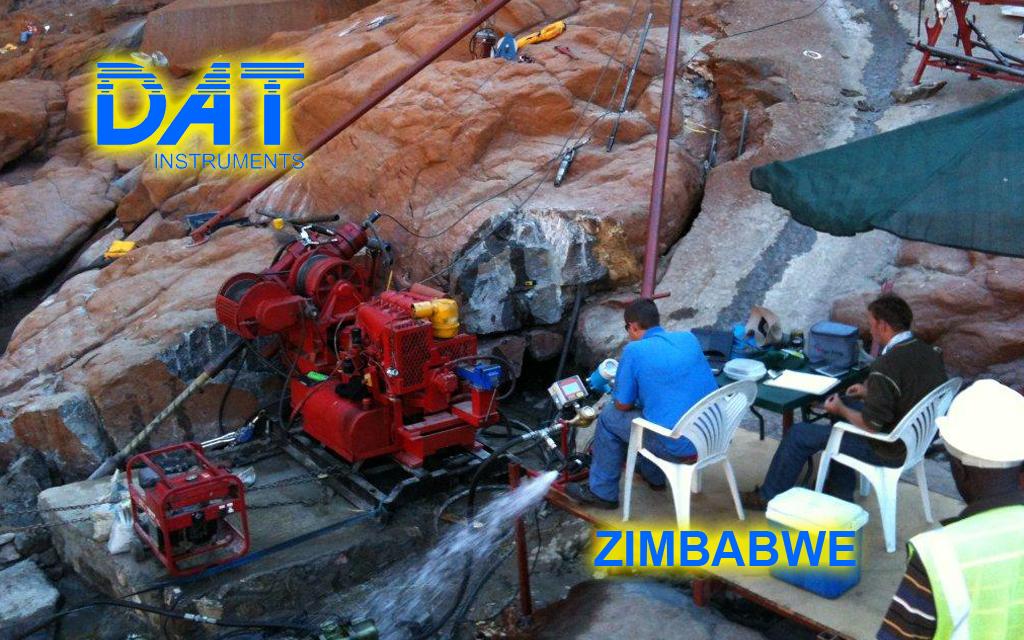 DAT instruments, JET DSP 100 / IR, datalogger per prove Lugeon, Zimbabwe