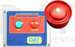 DAT instruments, DAT INCL ALARM, centralina di allarme (suono/luce) al superamento dell'angolo impostato