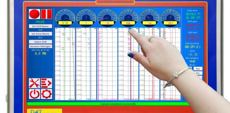 DAT instruments, DAT WideLog, datalogger per HDD, datalogger touch screen
