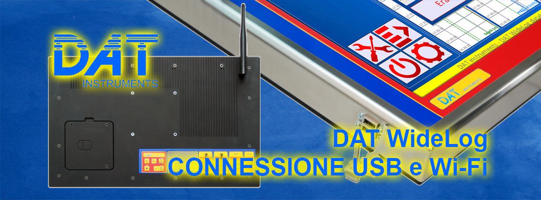 DAT instruments, datalogger per geotecnica e fondazioni speciali, DAT WideLog, connessione USB e Wi-Fi