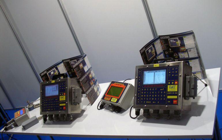 Datalogger in esposizione, Bauma 2016, DAT instruments, data logger