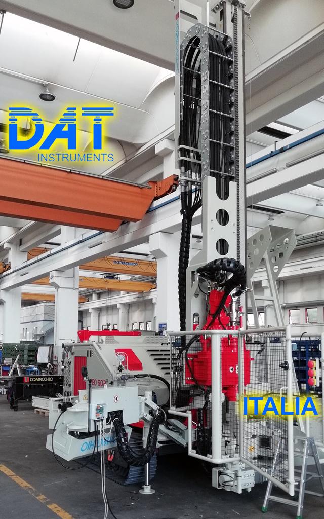 DAT instruments, datalogger, JET SDP IB, installazione in officina Comacchio, datalogger installato dal produttore di trivelle, perforazioni, dac test