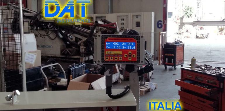 DAT instruments, datalogger, JET SDP IB, installazione nel capannone del produttore di trivelle