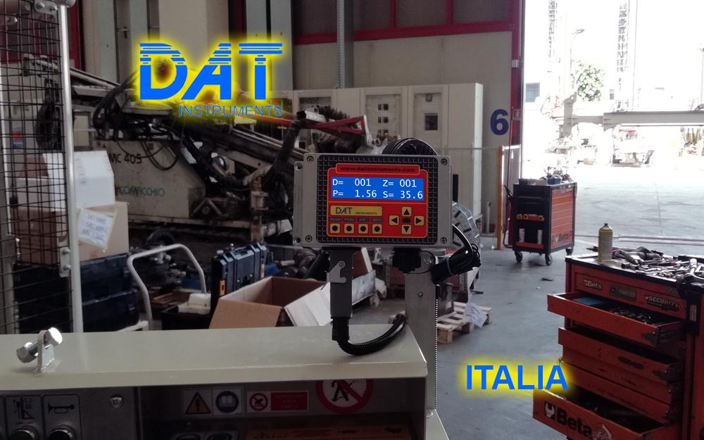 DAT instruments, datalogger, JET SDP IB, installazione su trivella Comacchio, datalogger installato dal produttore di trivelle