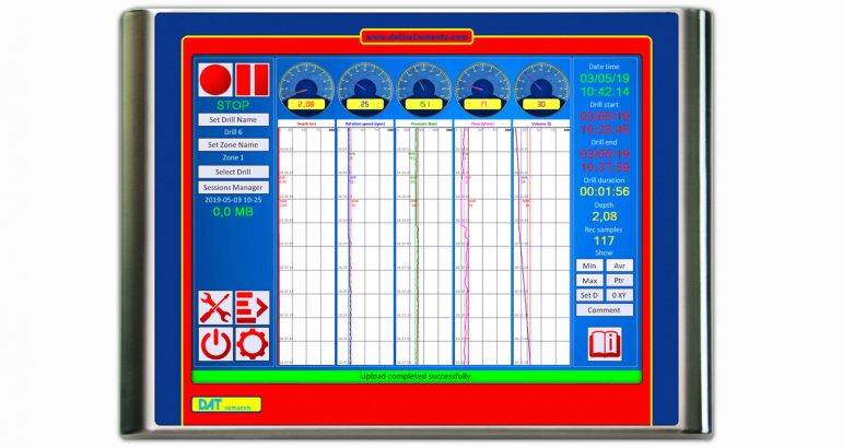 DAT instruments DAT TinyLog datalogger touchscreen per CFA (pali ad elica continua)