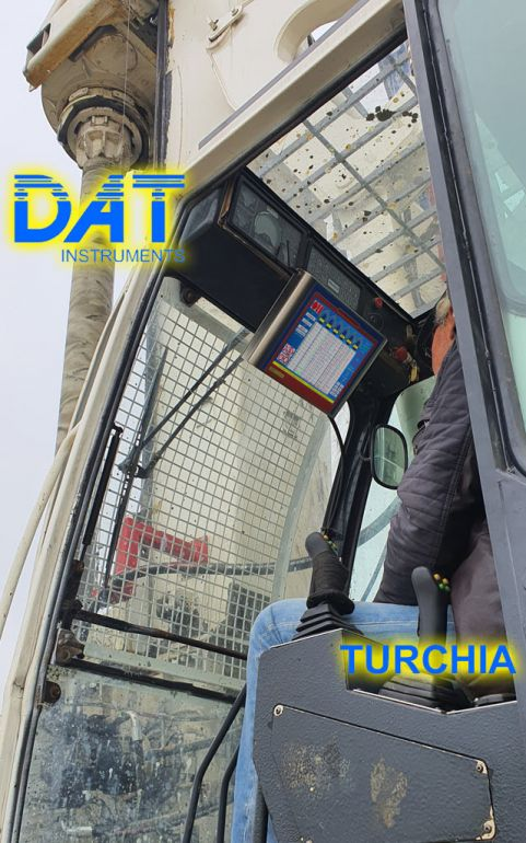 DAT TinyLog in cabina per monitorare i lavori di soil mixing per ampliare una strada