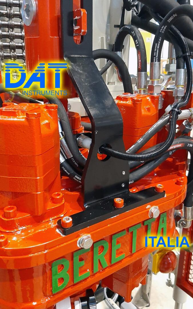 DAT instruments, installazione di un datalogger nella fabbrica di Beretta, JET SDP IB, JET ROT, sensore di rotazione