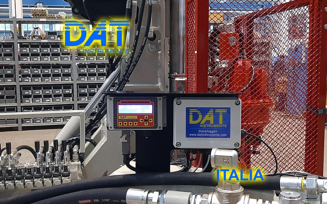 DAT instruments, installazione di un datalogger nella fabbrica di Beretta, JET SDP IB, datalogger per jet grouting