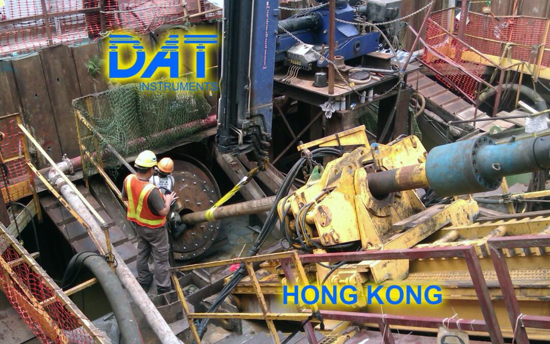 DAT instruments, perforazioni orizzontali con il DAT TinyLog, JET 4000 AME J, Hong Kong